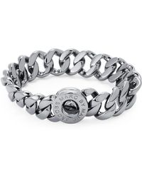 Marc By Marc Jacobs - Hematite-tone Turn-lock Bracelet - Lyst