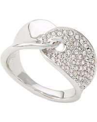 00f13f4c1 Swarovski Protect Crystal Pavã Ring in Metallic - Lyst