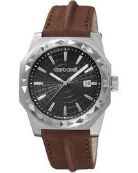 Roberto Cavalli - Rv1g018l0016 Silver-tone & Brown Watch - Lyst