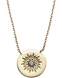 Anzie | 14K Gold Milly Diamond Sun Pendant Necklace | Lyst