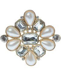 Ak Anne Klein - Gold-Tone Faux Pearl Pin - Lyst