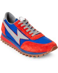 Marc Jacobs - Red & Blue Lightning Bolt Casual Sneakers - Lyst