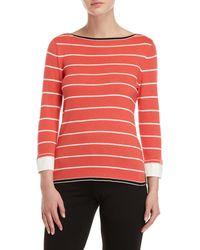 Rafaella - Petite Striped 2fer Sweater - Lyst