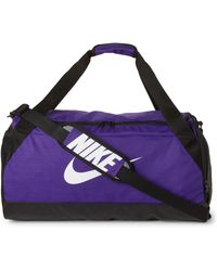 Nike - Purple & Black Brasilia Medium Duffel - Lyst