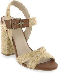 MIA - Lendya Braided Raffia Heel Sandals - Lyst