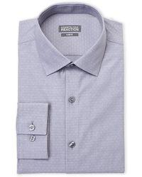 Kenneth Cole Reaction - Grey Dobby Slim Fit Dress Shirt - Lyst