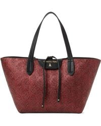 Patrizia Pepe - Red Twist & Black Reversible Tote - Lyst