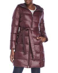 Lauren by Ralph Lauren - Hooded Quilted Down Coat - Lyst