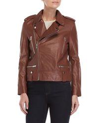 Walter Baker - Black Liza Moto Leather Jacket - Lyst