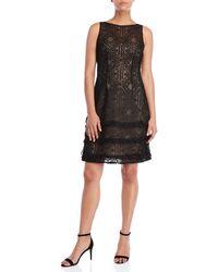 Aidan Mattox - Black Soutache Embroidered A-line Dress - Lyst