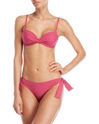 Annaclub by La Perla - Two-piece Solid Self-tie Bikini - Lyst