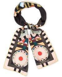 Givenchy - Egyptian Eye Silk Scarf - Lyst