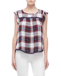 Almost Famous - Plaid Sleeveless Peasant Top - Lyst