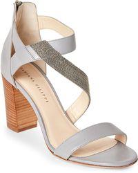 Fabiana Filippi - Ambra Embellished Leather Block Heel Sandals - Lyst