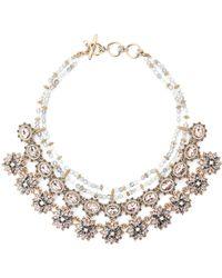 Marchesa - Gold-tone Floral Fantasy Statement Bib Necklace - Lyst