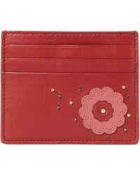 Bottega Veneta - Petra Floral Leather Card Case - Lyst