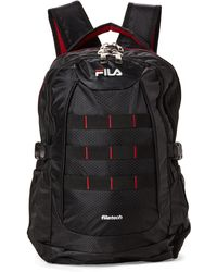 Fila - Black & Red Colossus Laptop Backpack - Lyst