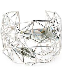 Atelier Swarovski   Silver-tone Cuff Bracelet   Lyst