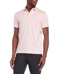 Perry Ellis - Stripe Tipped Polo - Lyst