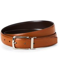 Cole Haan - Brown & Tan Leather Reversible Belt - Lyst