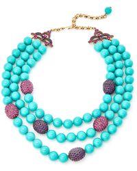 Heidi Daus - Turquoise-tone Multi Strand Beaded Necklace - Lyst