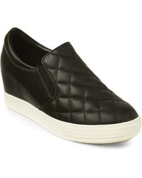 Wanted - Black Bushkill Quilted Wedge Sneakers - Lyst