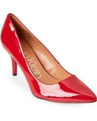 CALVIN KLEIN 205W39NYC - Crimson Red Kylie Patent Leather Pumps - Lyst