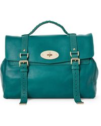 Mulberry - Green Alexa Oversized Leather Satchel - Lyst