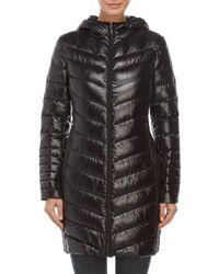 BCBGeneration - Quilted Hooded Long Coat - Lyst