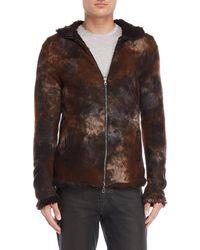 Avant Toi - Brown Hooded Zip-up Cashmere Sweatshirt - Lyst