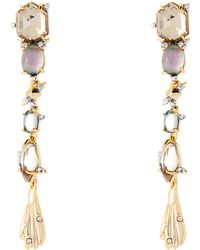 Alexis Bittar - Gold-tone Spiked Dangling Stone Earrings - Lyst
