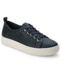 J/Slides - Navy Artsy Woven Leather Platform Sneakers - Lyst