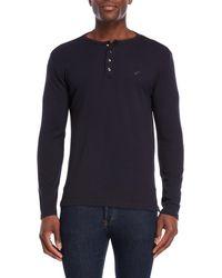 William Rast - Booker Long Sleeve Henley Shirt - Lyst