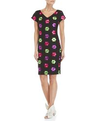 Boutique Moschino - Floral Embroidered Dress - Lyst