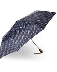 Adrienne Vittadini - Logo Auto Open Umbrella - Lyst
