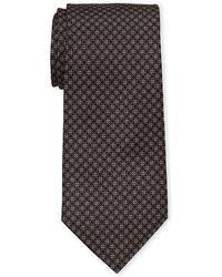 Battistoni - Brown Dotted Circle Silk Tie - Lyst