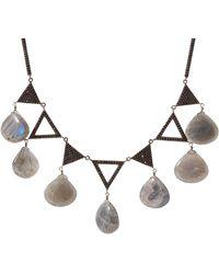 Bavna - Sterling Silver Black Spinel & Labradorite Necklace - Lyst