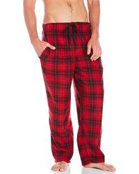 Geoffrey Beene - Fleece Pajama Pants - Lyst