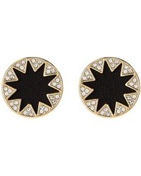 House of Harlow 1960 - Gold-tone & Black Accented Sunburst Earrings - Lyst