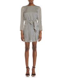 Isla - Printed Belted Mini Dress - Lyst