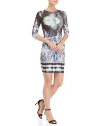 GAUDI - Printed Bodycon Scuba Dress - Lyst