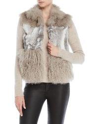 Adrienne Landau - Mixed Real Fur Vest - Lyst