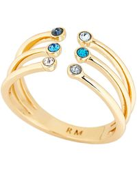 Rebecca Minkoff - Gold-tone Ombré Bubble Claw Ring Size 8 - Lyst