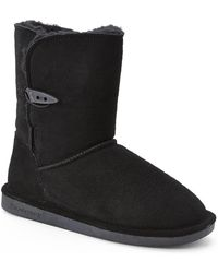 BEARPAW - Black Victorian Short Boots - Lyst