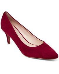 Cole Haan - Syrah Wine Harlow Suede Pumps - Lyst