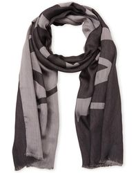 Mulberry - Logo Jacquard Scarf - Lyst