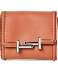 Tod's - Leather Double T Mini Wallet - Lyst
