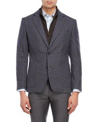 English Laundry - Blue Plaid Bibbed Blazer - Lyst