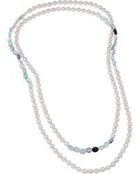 Tara Pearls - Freshwater Pearl & Fluorite Necklace - Lyst