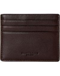 Michael Kors - Leather Odin Card Case - Lyst